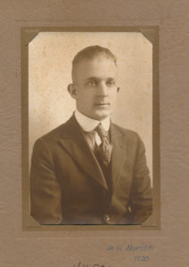 Yearbook photo of Wilbert H. Norton, Class of 1922